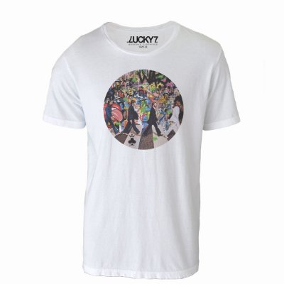 Camiseta Lucky Seven - Abbey Road Beatles