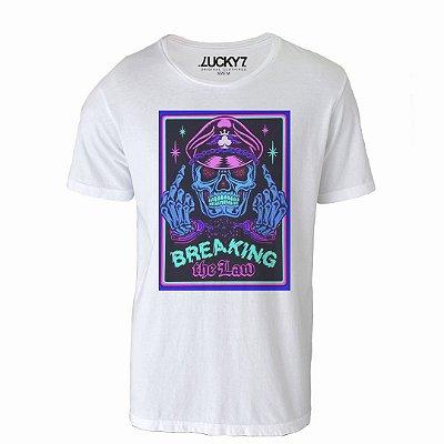 Camiseta Lucky Seven - Skull Neon
