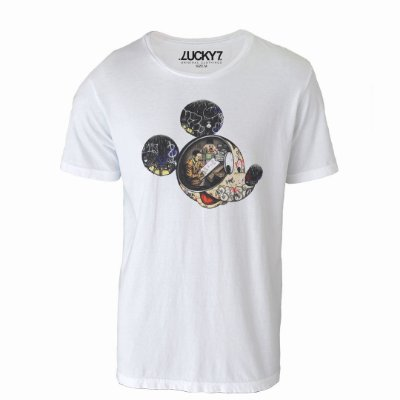 Camiseta Lucky Seven - Mickey Graffiti