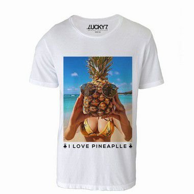 Camiseta - i love Pineapple - LIQUIDAÇÃO