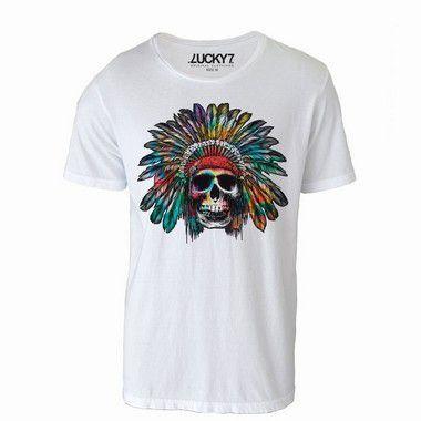 Camiseta Caveira índio - LIQUIDAÇÃO