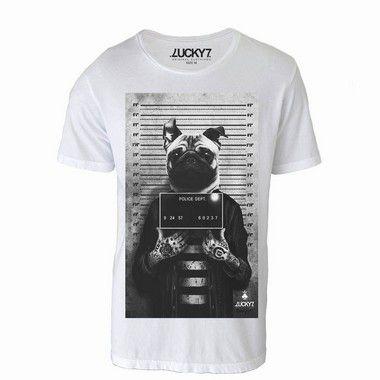 Camiseta Criminal Pug - LIQUIDAÇÃO