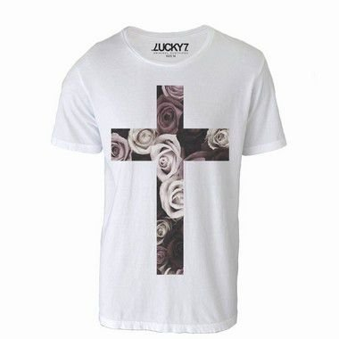 Camiseta Cross in Flower - LIQUIDAÇÃO