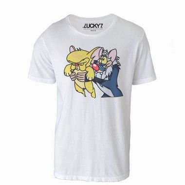 Camiseta - Pink e Cérebro LIQUIDAÇÃO
