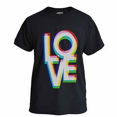 Camiseta Lucky Seven Preta - LOVE