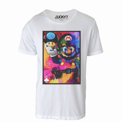 Camiseta Lucky Seven - Colorful Mario