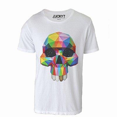 Camiseta Lucky Seven - Geometric Skull