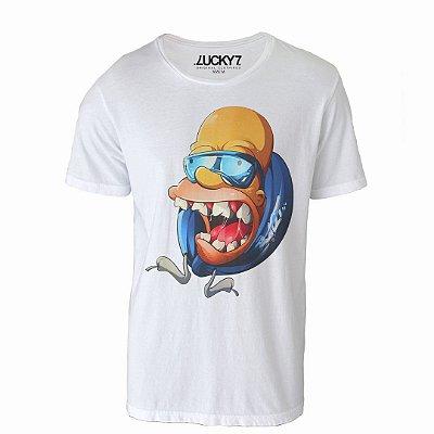 Camiseta Lucky Seven - Psycho Homer