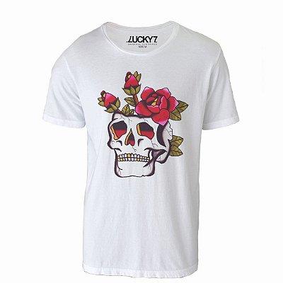 Camiseta Lucky Seven - Skull Rose