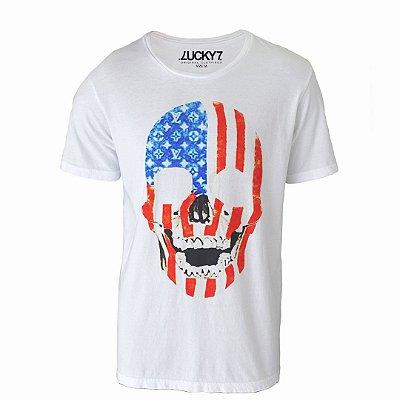 Camiseta Lucky Seven - Caveira USA