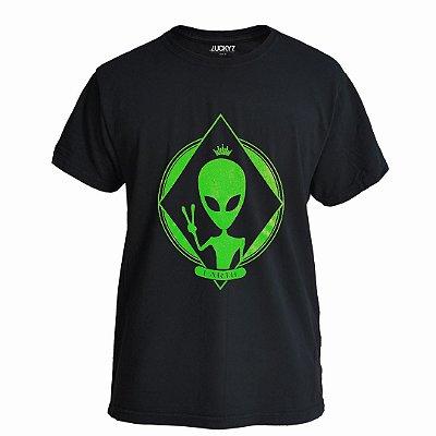 Camiseta Lucky Seven Preta - E.T.