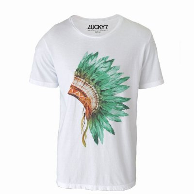 Camiseta Lucky Seven - Green Headdress