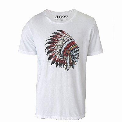 Camiseta Lucky Seven - Caveira Cocar