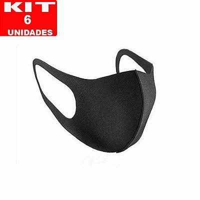 """KIT 6 Máscaras de Proteção - """"Modelo Ninja""""  lavável, reultilizável."""