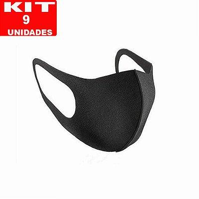 """KIT 9 Máscaras de Proteção - """"Modelo Ninja""""  lavável, reultilizável."""