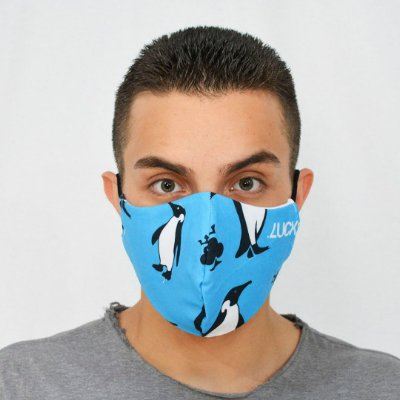 Máscara de Proteção Alogodão - Estampada Pinguim