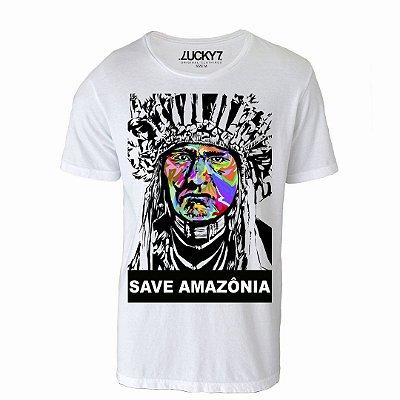 Camiseta Gola Básica: Save Amazônia
