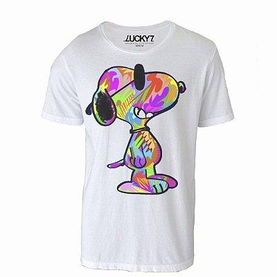 Camiseta Gola Básica: Snoopy collors