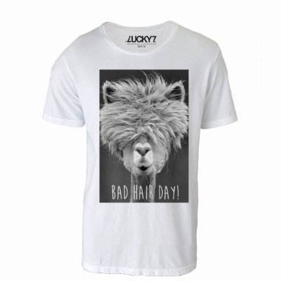 Camiseta Gola Básica - Bad Hair Day