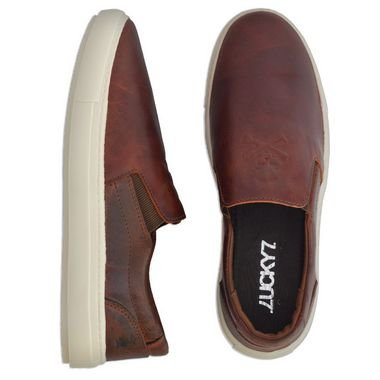 Tenis Slip On - Brown Skull