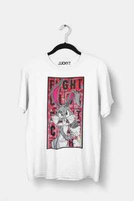 Camiseta Gola Básica - Bunny Fighter