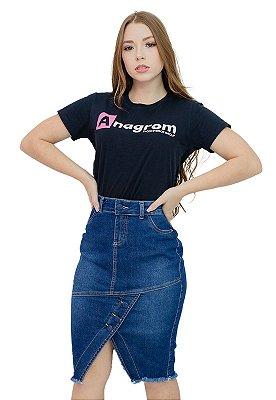 Saia Evangélica Jeans com Fenda na Frente Anagrom Ref.181