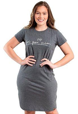 Vestido T-Shirt Mescla Frase Evangélica Anagrom Ref.V016