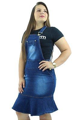 Jardineira Saia Feminina Azul Destroyer com Babado Ref.4002