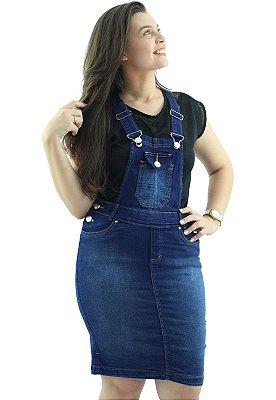 Jardineira Saia Evangélica Jeans Azul  Destroyer Ref.4004