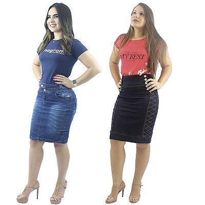 Combo De Saias Jeans Modelos de Pince e Zigzag