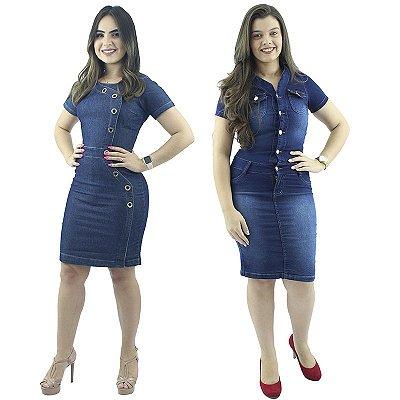 Combo de 2 Vestidos Jeans Moda Evangélica Anagrom