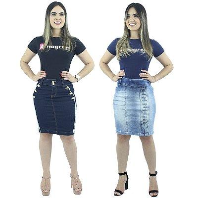 Combo 2 Saias Evangélica Executivas Jeans Modelos Novos