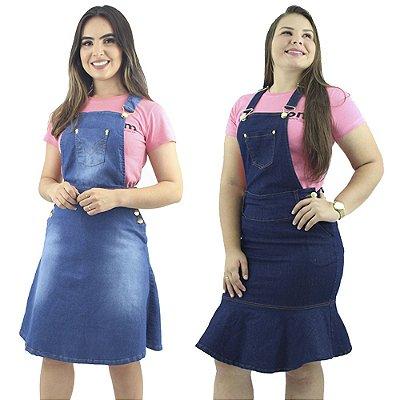 2 Jardineiras Anagrom Moda Feminina Jeans