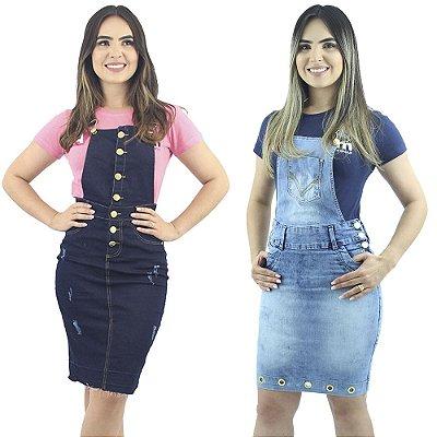 Combo de Jardineiras Jeans Modelos Diferentes Anagrom