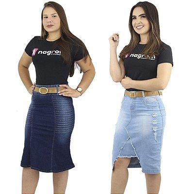 Kit Evangélico de 2 Saias Jeans Anagrom