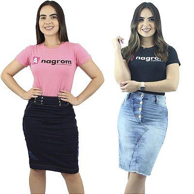 Saias Jeans Moda Cristã Modelos e Cores Diferentes Anagrom