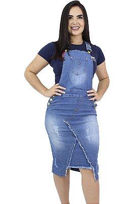 Jardineira Jeans Recorte Frontal Anagrom Ref.4032