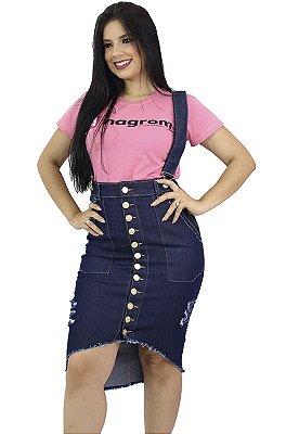 Salopete Jeans Amaciada de Botão Anagrom Ref.4033