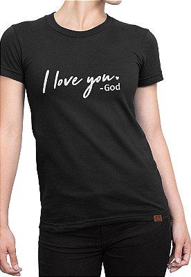 T-shirt Moda Evangélica Anagrom Preta Ref.C001