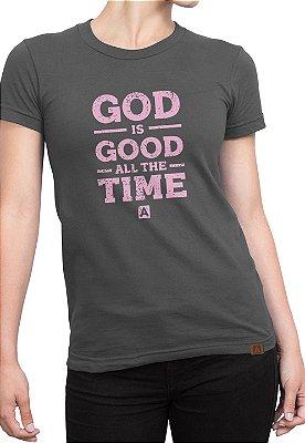 T-shirt Moda Evangélica Anagrom Cinza Ref.C003