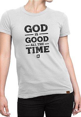 T-shirt Moda Evangélica Com Estampa Anagrom Branca Ref.C004