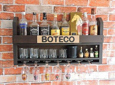 Barzinho de Parede MDF 80cm x 45cm Tabaco Fosco