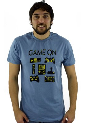 CAMISETA GAME ON AZUL