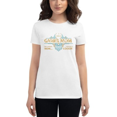 CAMISETA SKUBE FEMININA GAMER MOM BRANCO - GS