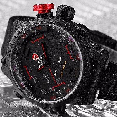 Relógio Esportivo  Shark (TUBARÃO) Gulper Series Digital LED de Aço Inoxidável Original