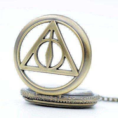 Relógio de Bolso Reliquias da Morte Harry Potter Analógico