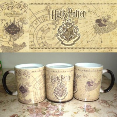 Caneca Mágica Harry Potter Mapa Do Maroto