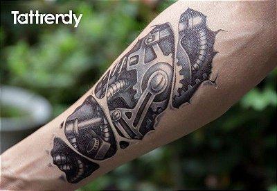 Tatuagem Temporária Braço Mecânico