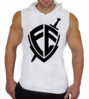 Camiseta Regata Machão Com Capuz Escudo da Fé