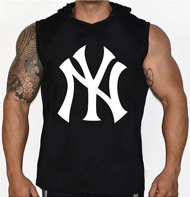 Camiseta Regata Machão Com Capuz NY Yankees